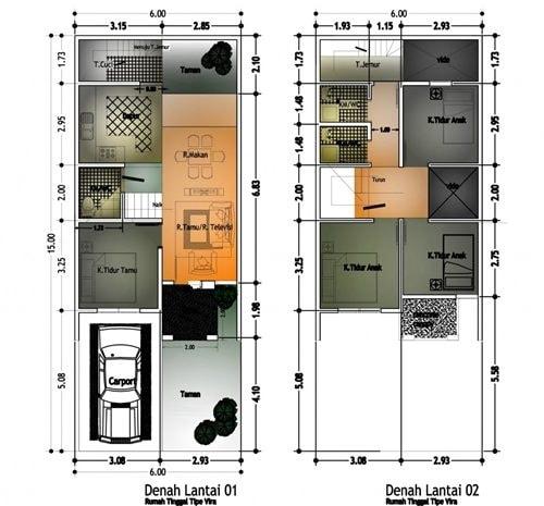 52 Koleksi Gambar Rumah Minimalis 2 Lantai 4 Kamar Terbaru