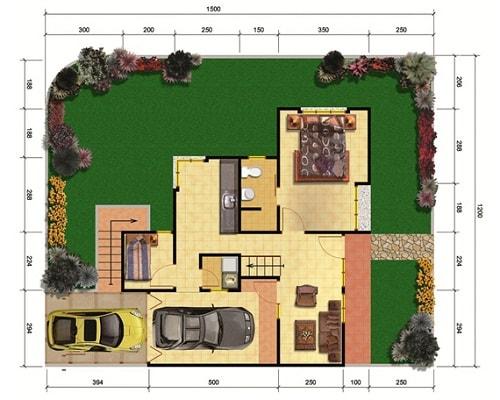 Denah Rumah Minimalis 1 Lantai yang Elegan dan Modern