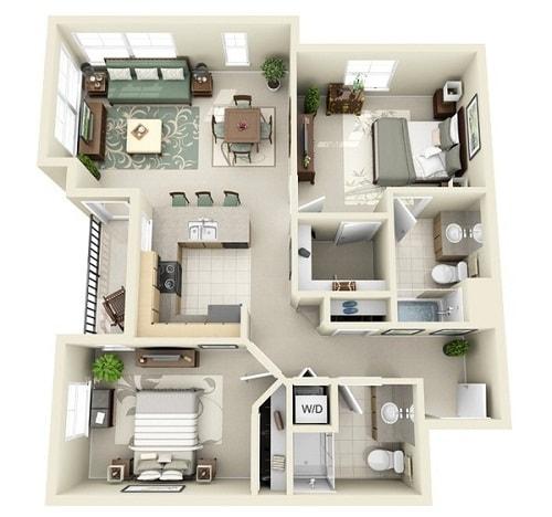 Denah Rumah Minimalis 3 Kamar 3d Paling Menarik