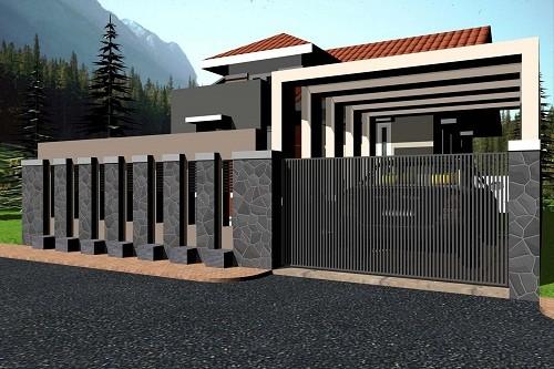 Desain Bentuk Pagar Rumah Minimalis yang Menarik