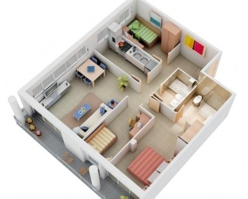 Desain Denah Rumah Minimalis Modern Terbaru