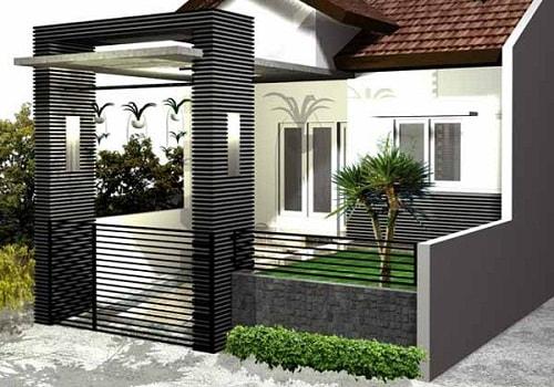 Desain Pagar Rumah Minimalis Type 36 Modern - Rumah Impian