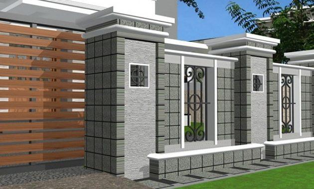 Inspirasi Pagar Rumah Minimalis Kombinasi Batu Alam