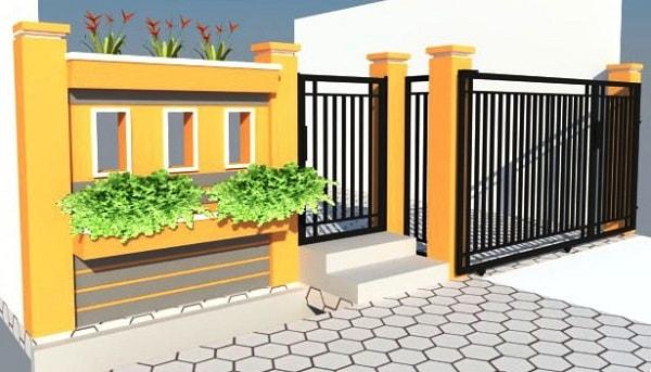 Kombinasi Warna Cat Pagar Besi  50 contoh pagar rumah minimalis modern model dan gambar