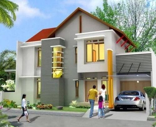 Warna Cat Rumah Minimalis Ruko 3 model warna cat rumah bagian luar yang bagus