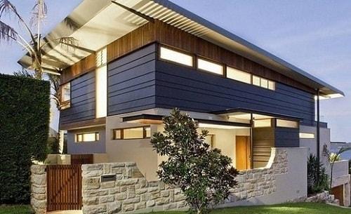 Model Pagar Rumah Minimalis Batu Alam Modern