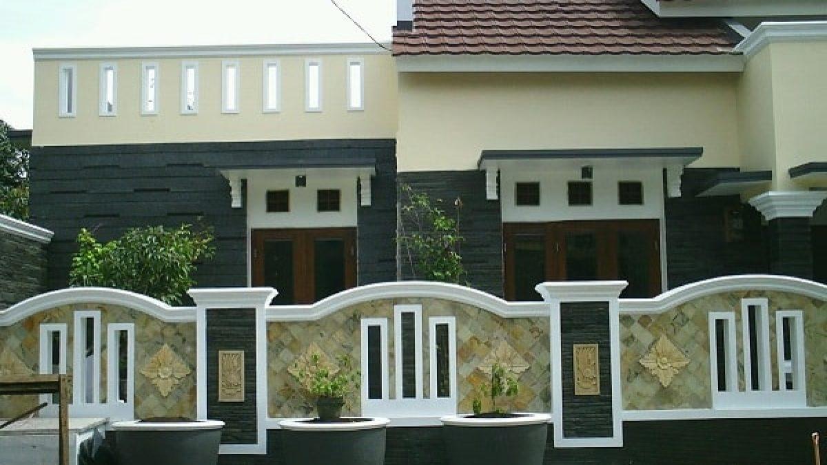 Model Pagar Rumah Tembok Minimalis Modern Gambar