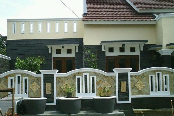 Model Pagar Rumah Tembok Minimalis Modern
