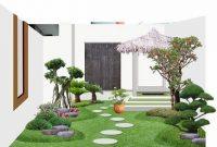 inspirasi desain taman rumah minimalis