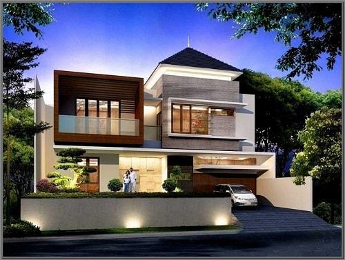 model gambar rumah tingkat minimalis mewah 3