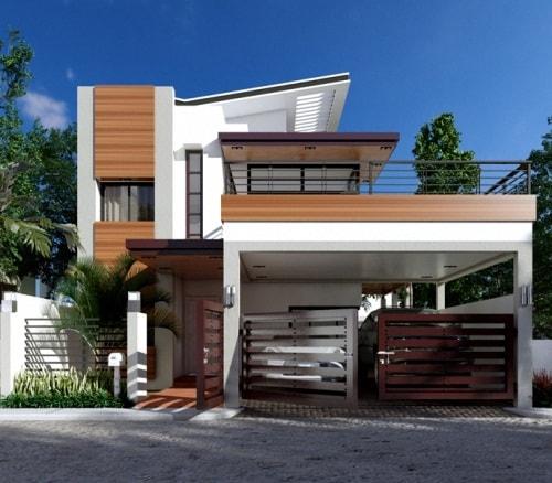 model gambar rumah tingkat minimalis mewah 5
