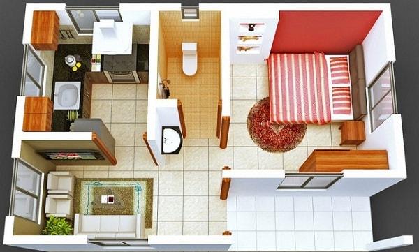 Denah Rumah Mungil Minimalis Sederhana Namun Nyaman dan Elegan