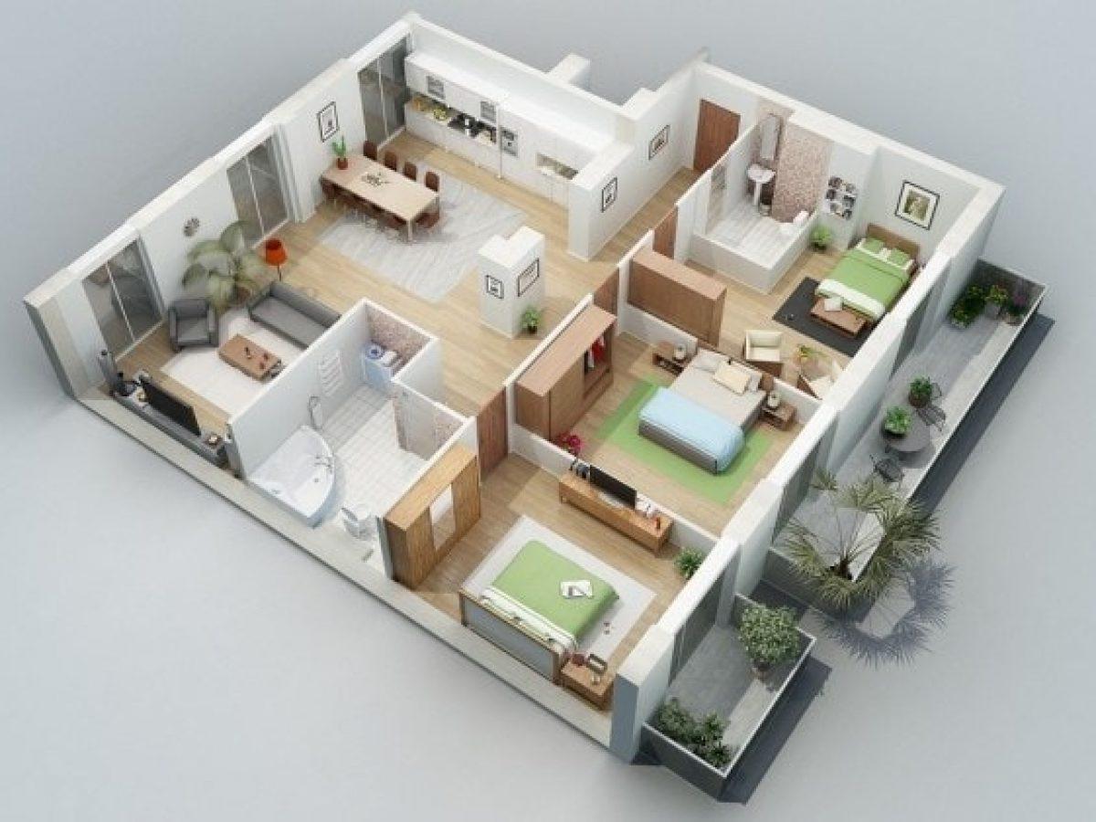 Desain Rumah 3 Kamar - Desainhom