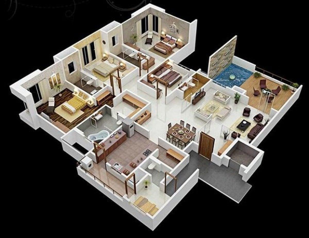 Gambar Denah Rumah 5 Kamar Tidur yang Luas dan Nyaman