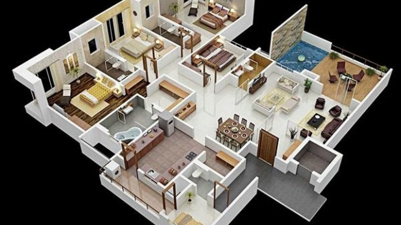 62 Koleksi Gambar Rumah Modern 1 Lantai 4 Kamar Gratis Terbaik
