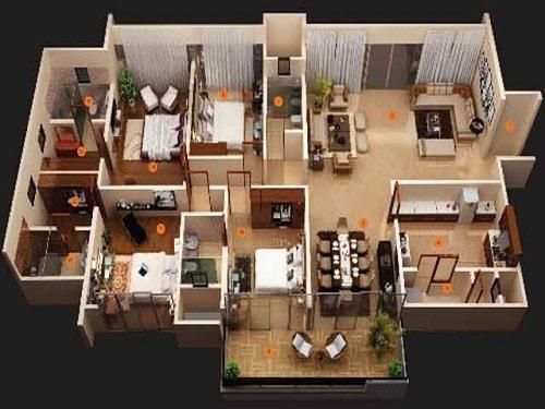 70 Gambar Rumah Sederhana Kamar 4 Gratis Terbaik