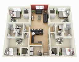 Gambar Denah Rumah 4 Kamar Tidur yang Luas dan Nyaman