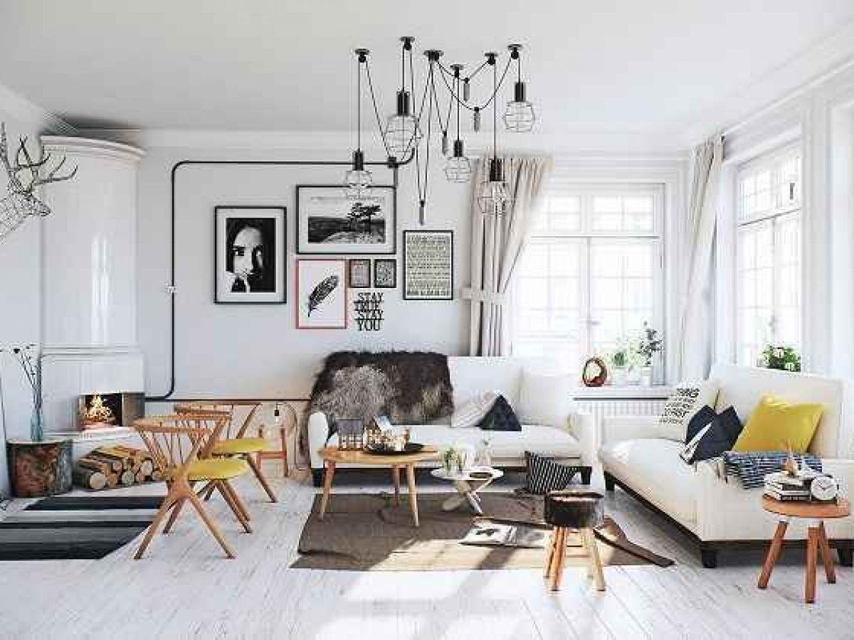Hasil gambar untuk Desain Interior Skandinavia Bermain dengan Cahaya Alami