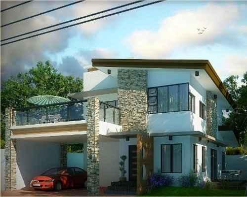 ide desain balkon rumah minimalis 2 lantai 3
