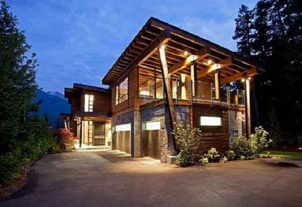 Desain Rumah Minimalis Luar Dan Dalam  ide desain rumah minimalis di pegunungan yang asri dan elok