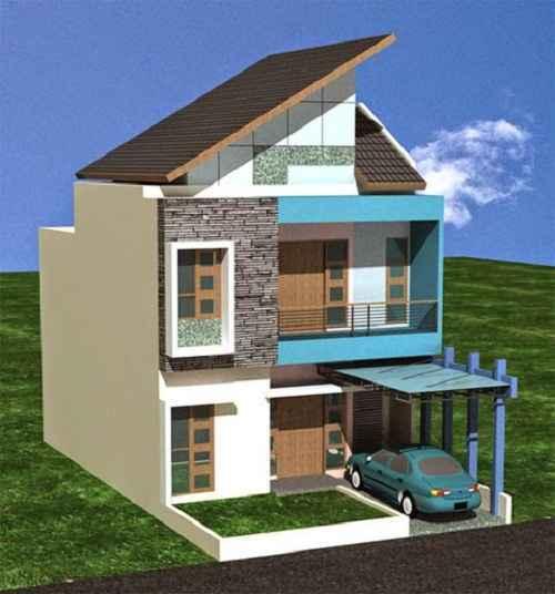 Gambar Rumah Kecil Minimalis 2 Tingkat yang Menarik
