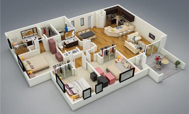 Inspirasi Denah Rumah Idaman Mewah Type 144