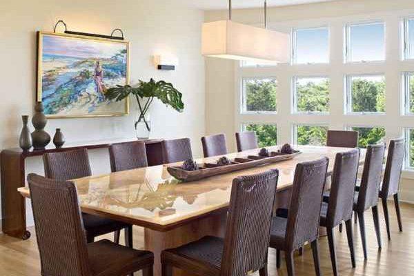 Model Meja Makan Minimalis Panjang yang Modern dan Terbaru