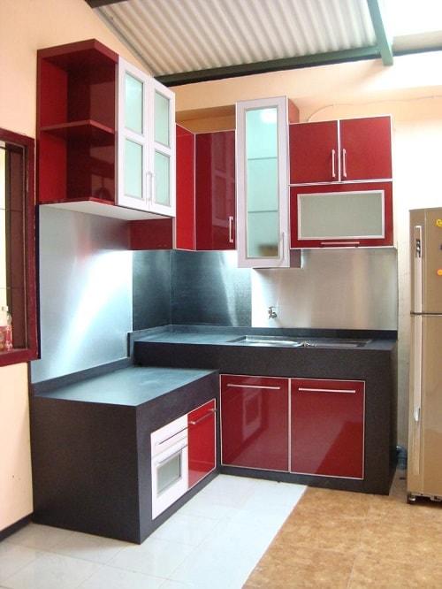 Desain Meja Dapur Island  desain kitchen sets minimalis terbaru untuk dapur mungil