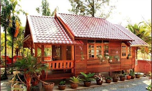 41 Gambar Rumah Kayu Cantik Sederhana Terbaik
