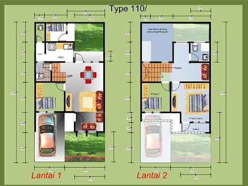 6000 Foto Desain Rumah 2 Lantai Type 100 Terbaik Unduh