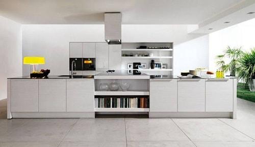 desain dapur terbuka di belakang rumah