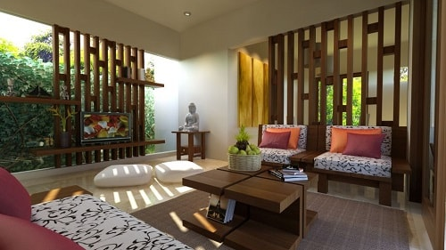 model dan desain ruang tamu terbuka minimalis