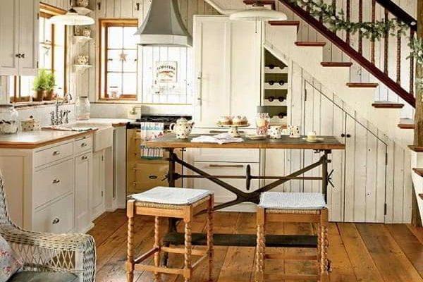 model dapur mungil bawah tangga