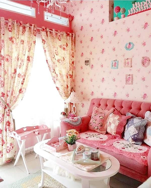 Desain Ruang Tamu Nuansa Pink Yang Dapat Anda Coba