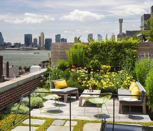 desain taman atap rumah