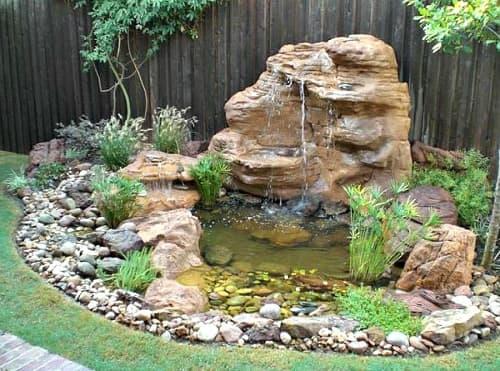 desain air terjun untuk taman