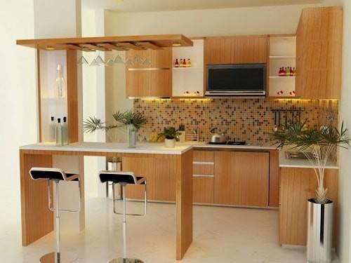 desain dapur mini bar