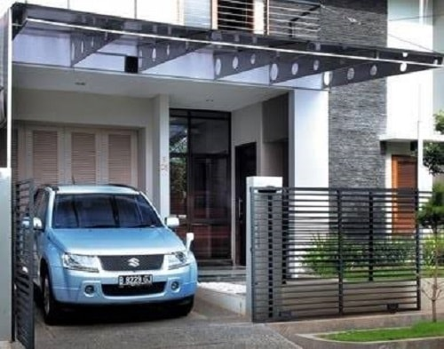8100 Gambar Rumah Modern Pintu Samping HD Terbaru