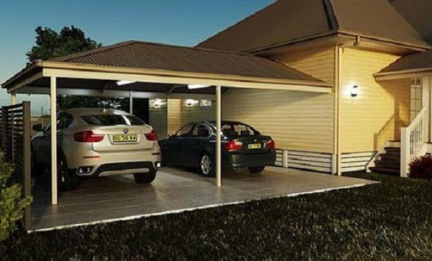 desain garasi mobil samping rumah