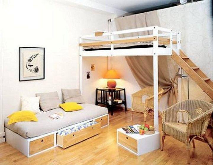 27 Desain Tempat Tidur Tingkat Minimalis Untuk Kamar Mungil