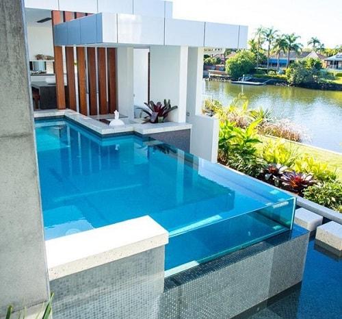 model kolam renang dalam rumah
