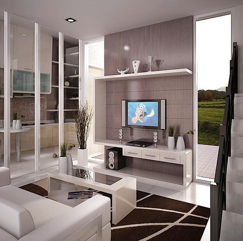 desain ruang keluarga kecil