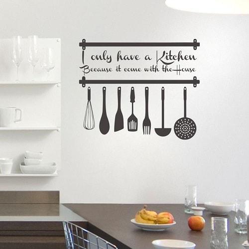 motif wall sticker untuk dapur