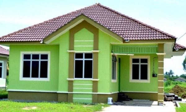 inspirasi cat rumah warna hijau