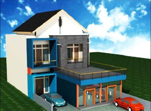 440+ Gambar Rumah Minimalis Plus Toko HD Terbaru
