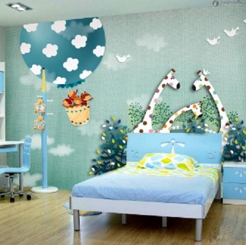 motif wallpaper dinding kamar tidur