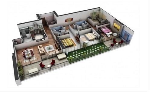 15 Contoh Denah Rumah Modern 3D Yang Bisa Anda Pilih