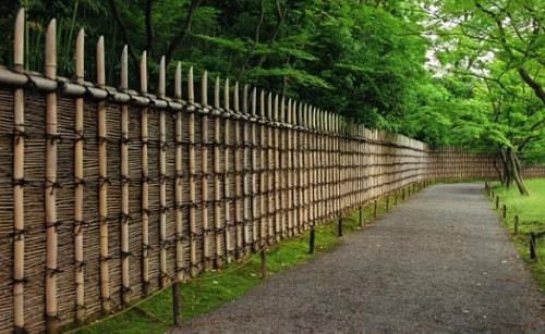 model pagar bambu unik