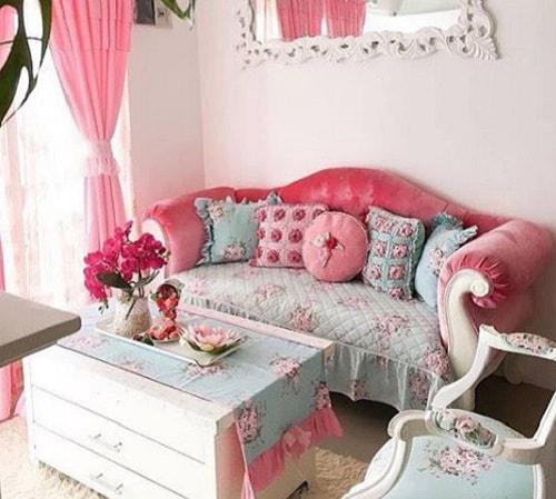 rumah dengan dekorasi Shabby Chic
