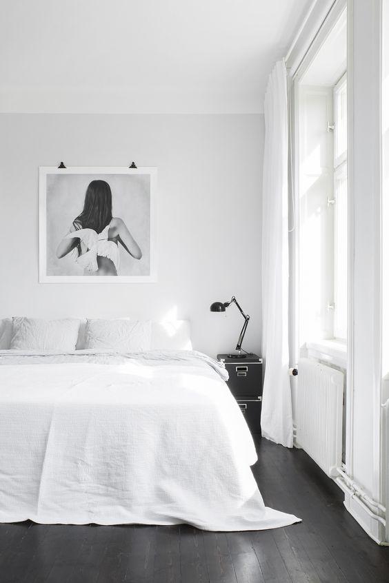 25+ Dekorasi Kamar Nuansa Monokrom Yang Modern dan Elegan